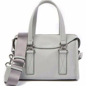 Marc Jacobs Wellington Leather Satchel Light Grey